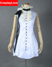 Vocaloid Kagamine Rin Camellia White Dress Cosplay Costume Custom-made For Christmas Halloween(China)
