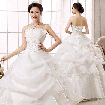 SHAMAI Vintage Wedding Dresses 2019 Strapless Bride Dress Ball Gown Wedding Gowns 2019 Robe De Mariage Bridal Dresses
