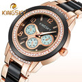 Diamond KINGSKY Brand White Gold Women Dress Watches Fashion Casual Wristwatch Lady Clock Party Watches Quartz Business Watch