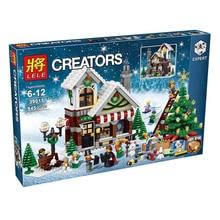 Serie de la muchacha 39015 Cenicienta del Refugio De Navidad Figuras de Juguete Bloques de Construcción de Ladrillos Educativos Compatible 10249 Para Regalos de Año Nuevo