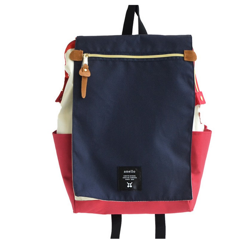 Anello school backpack highest canvas printing ring package bags women's brand young men & women backpack computer package