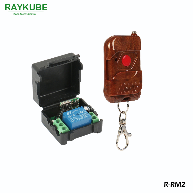 RAYKUBE Wireless Remote Control Kit 1V1 For Remote Open Electric Door Lock Control Module Rosewood Type Shell R-RM2 40km h 4 wheel electric skateboard dual motor remote wireless bluetooth control scooter hoverboard longboard