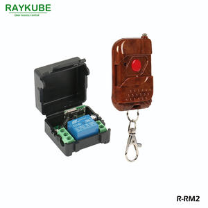 RAYKUBE Wireless Remote Control Kit 1V1 For Remote Open Electric Door Lock Control Module Rosewood Type Shell R-RM2