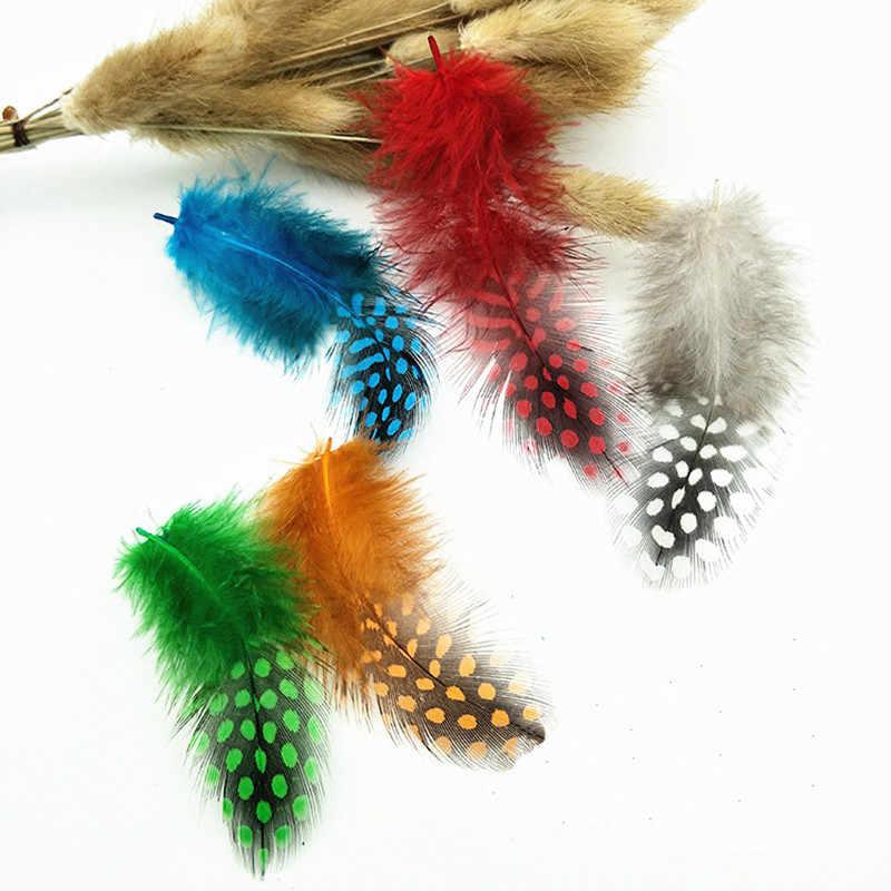 Plumes 4.5-8 ซม. ย้อมสีธรรมชาติ Pearl ไก่ Pheasnt Plumage ขนหน้ากากสำหรับเครื่องประดับทำชุดหัตถกรรมตกแต่ง