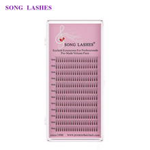 SONG LASHES 0.07 thickness premade volume fans premade fan Prefanned 4D Volume Lashes Eyelash Extension pre-made fans long stem цена