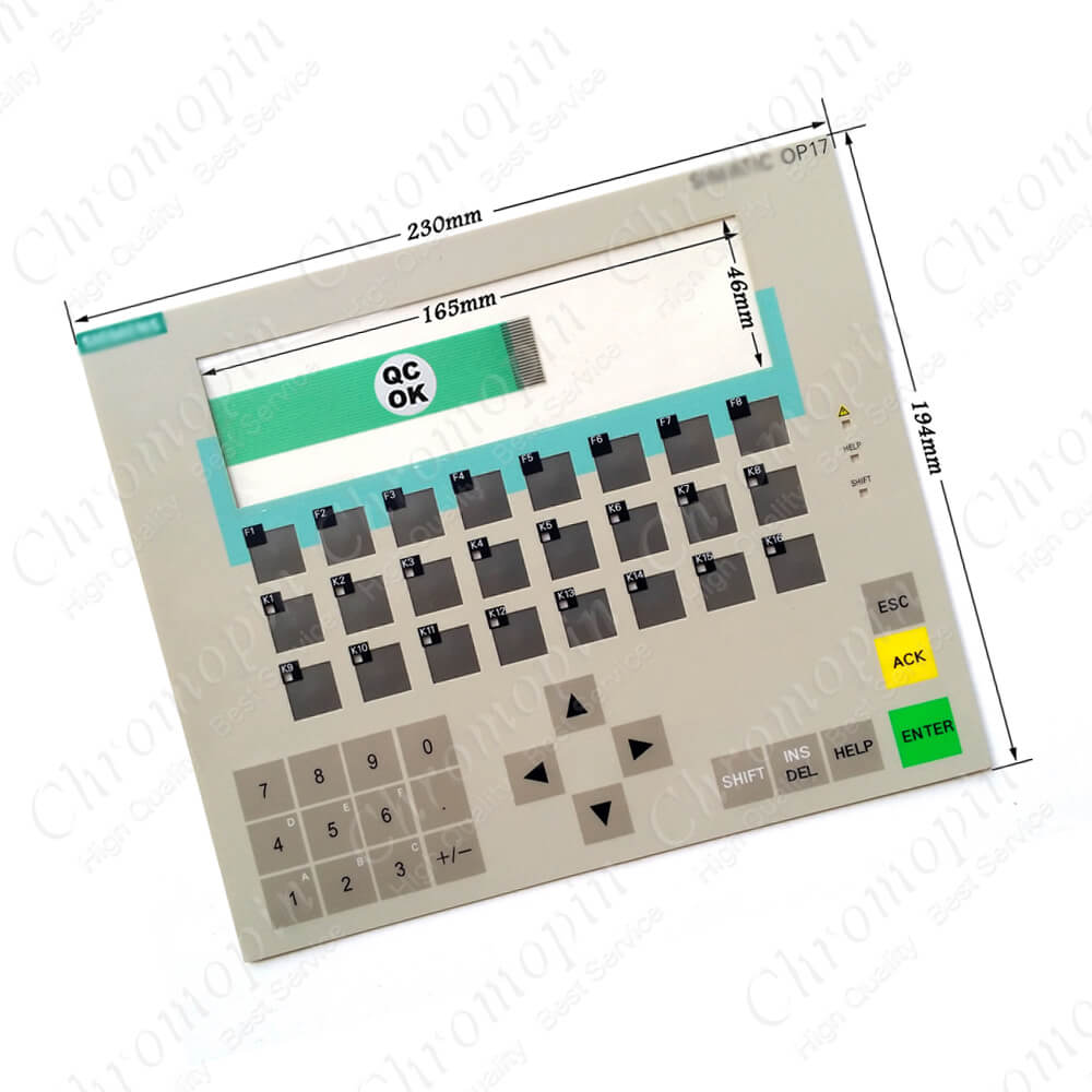 Membrane keypad for 6AV3 617-4FB42-0AL0 6AV3 617-5BA00-0BC0 6AV3 617-4EB42-0AL0 OP17 membrane keypad 6av3 505 1fb00 for op5 a1