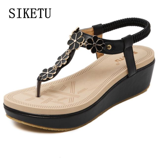 SIKETU 2017 Summer New PU Leather Women sandals Fashion casual comfortable Woman shoes large size beach Girl sandals 35-40