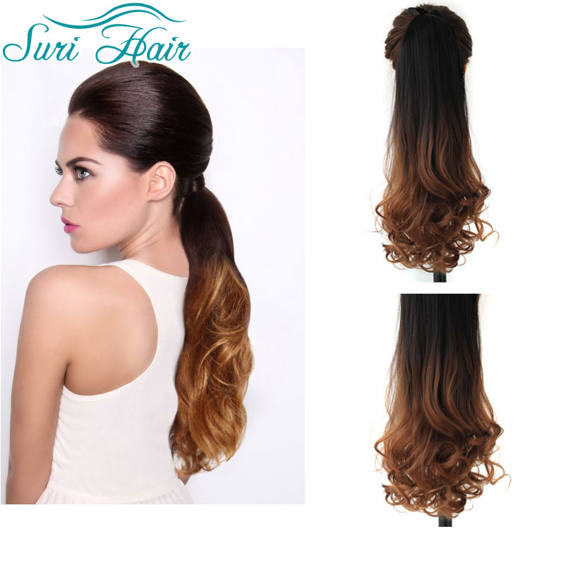 Pleasing Aliexpress Com Buy Synthetic Ombre Ponytails 22 Inches Long Wavy Hairstyles For Women Draintrainus