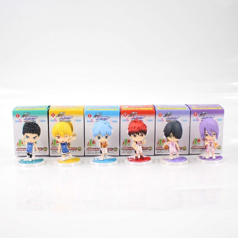 6pcs/lot 7cm Anime Kuroko's Basketball Kuroko no Basuke Edition PVC Action Figure Basket Collectible Model Toy Doll 1