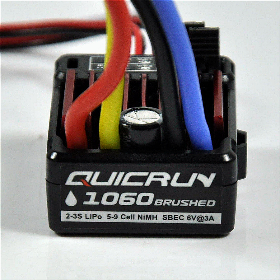 1pcs Newest Hobbywing QuicRun 1060 / 1625 Brushed ESC Electronic Speed Controller ESC For 1:10 / 1:18 1:16 RC Car 10a brushed esc two way motor speed controller for 1 16 1 18 1 24 car boat tank f05427 28