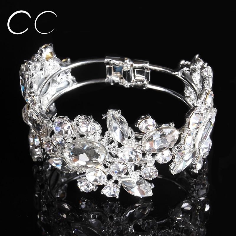 AAA CZ austrian crystal bangles bracelets for women wedding jewelry for brides fashion jewellery E013