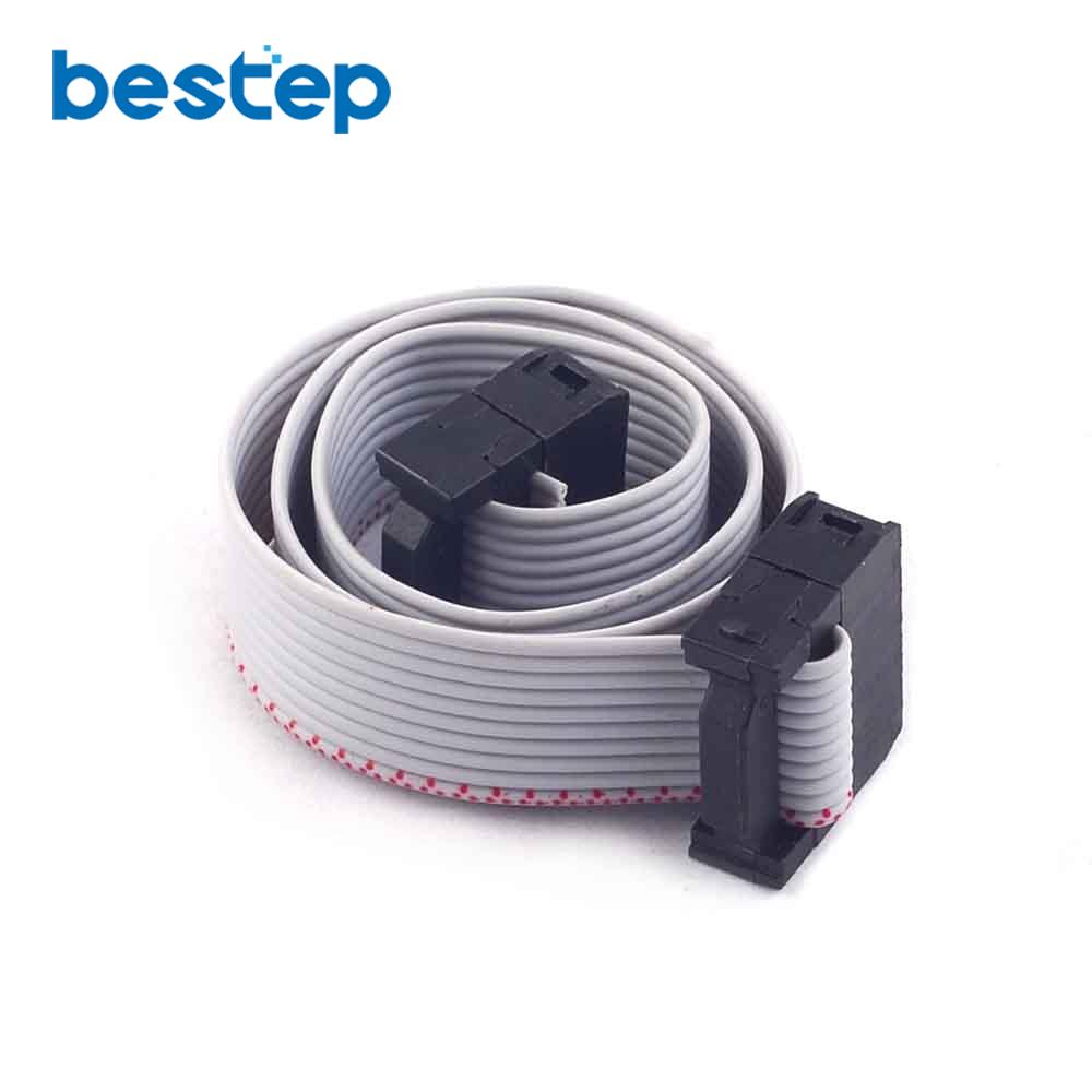 10PCS 10pin (2X5) IDC Flat Ribbon Cable Wire For ISP JTAG 2.54mm Spacing Header 30CM