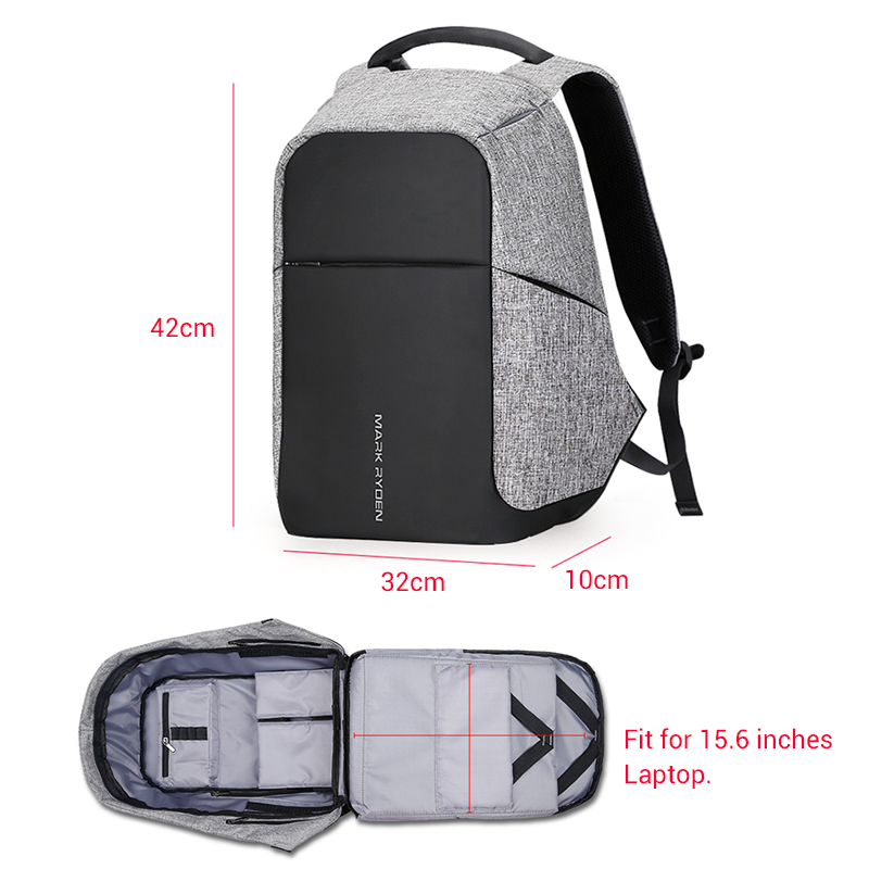 Image 5 - Mark Ryden Multifunction USB charging Men 15inch Laptop Backpacks For Teenager Fashion Male Mochila Travel backpack anti thief-in Backpacks from Luggage & Bags