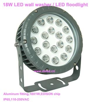 CE,IP65,good quality,high power 18W LED wall washer,LED floodlight,DS-T32-18W,110V-250VAC,18X1W,,2-year warranty