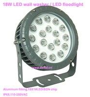 CE  IP65  gute qualität  high power 18 watt LED wall washer  LED flutlicht  DS T32 18W  110V 250VAC  18X1 watt   2 jahr garantie-in LED-Strahler aus Licht & Beleuchtung bei
