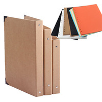 B5 DIY spiraal vintage kraft plakboek cover, kraft foto map met metalen hoek, gast handtekening boek
