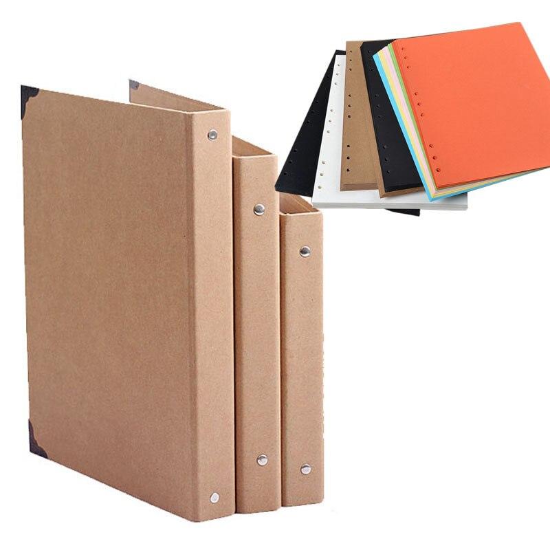 How To Make Covered Files: B5 DIY Spiral Vintage Kraft Scrapbook Cover, Kraft Photo