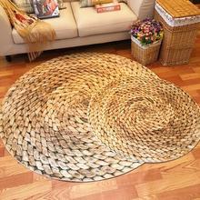 Modern Japanese 3D Straw round area rugs carpet kids room bathing bape rug bedroom mat non-slip 60*60 80*80 100*100 computer