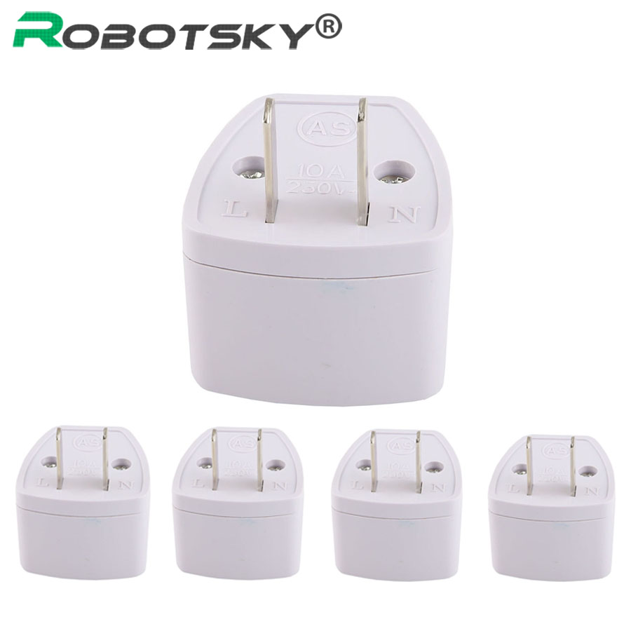 5PCS High Quality Universal EU AU UK to EU AC Power Plug Portable Travel Wall Charger Charge Adapter Outlet Converter Conversion