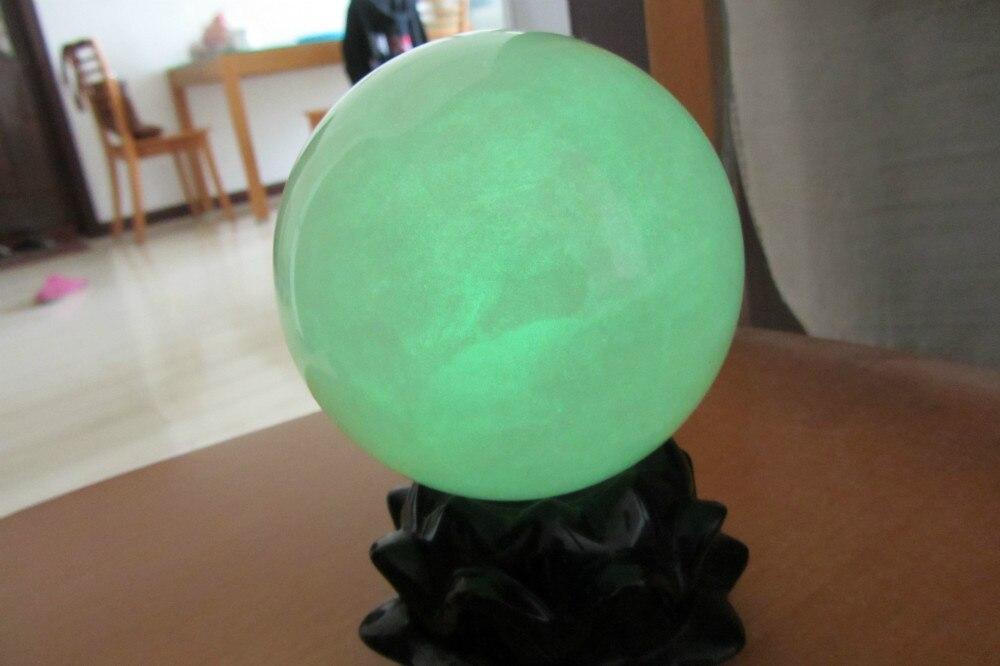 100mm brillo verde calcita brillo en la esfera de la bola de piedra oscura sanación de China-in Piedras from Hogar y Mascotas    3