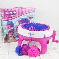 Забавные Дизайн для девочек Вязание машины DIY ручной Шапки шарфы Вязание машина вязаный свитер игрушки для детей Прямая поставка