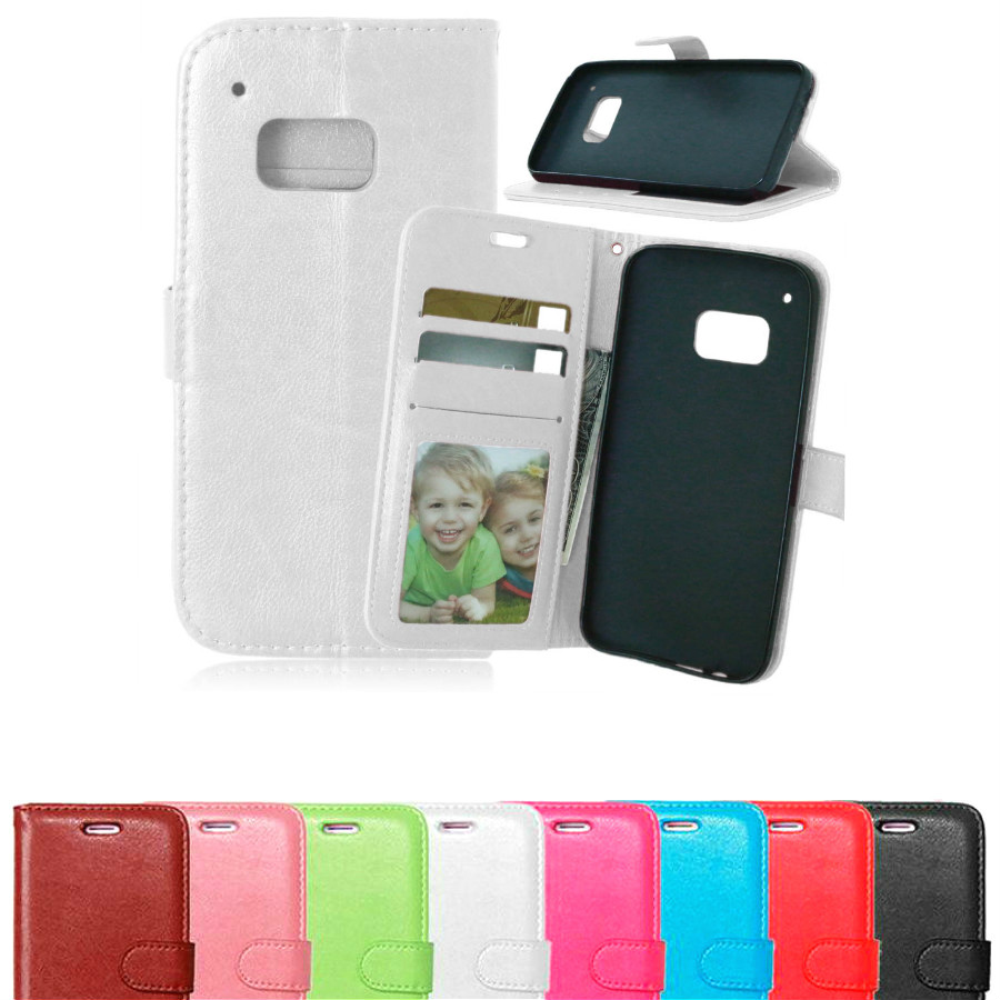 Luxury PU Leather Wallet Case For HTC One M9 Flip with Stand Design and Card Holder In Sto