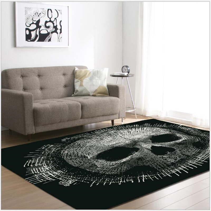 US $26.56 29% OFF|AOVOLL 2019 Shanto Skull Carpets For The Modern Living  Room Bedroom Rugs Carpet Kids Room Floor Mats Anti slip And Anti wrinkle-in  ...
