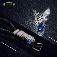 Auto Leopard Key Rings Metal Car Keychain for Men Business Gift Key Holder Accessories for Alfa Romeo Nissan Dodge Ford Hyundai цена 2017
