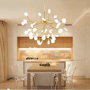 Image 2 - Modern firefly LED Chandelier light stylish tree branch chandelier lamp decorative firefly ceiling chandelies hanging Lighting