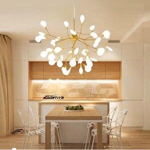 Image 2 - Moderna firefly HA CONDOTTO LA luce Lampadario elegante ramo di un albero lampadario lampada decorativa firefly soffitto chandelies di Illuminazione A sospensione