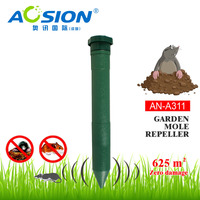 2x Aosion plastic tube mole repeller chase moles burrowing rodents repeller repellent outdoor pest reject|Repellents|Home & Garden -