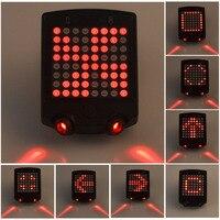 Drahtlose Fahrrad Laser Rücklicht Fahrrad Blinker Fernbedienung Sicherheit LED Warnung Rücklicht USB Aufladbare Rücklicht