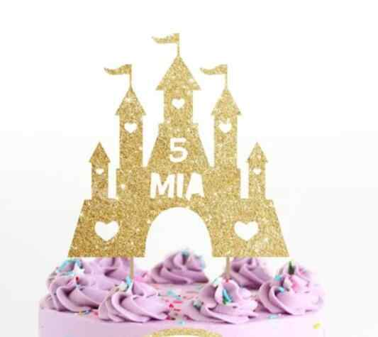Terrific Personalize Name Number Glitter Princess Castle Girls Birthday Funny Birthday Cards Online Inifofree Goldxyz