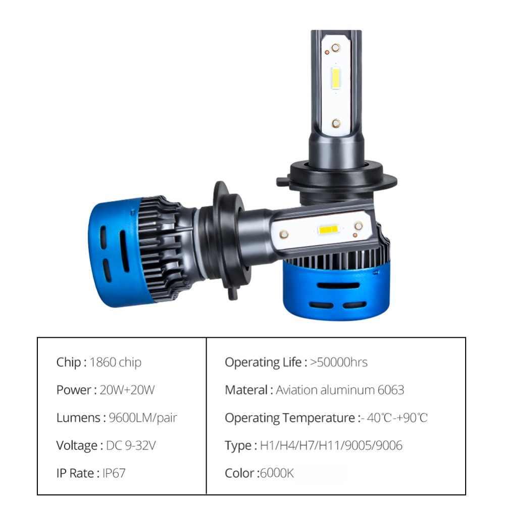 Foxcnsun MINI car headlight LED h7 h4 4300K 6500K 3000K 8000K 1860 12V 10000LM 50W H1 H8 H11 9005 9006 HB4 HB3 Hi Lo beam auto