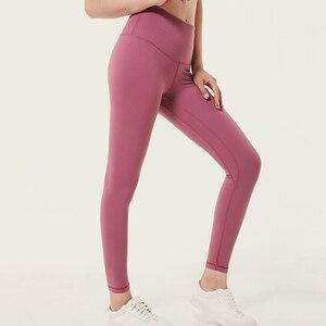 Image 2 - Soft Stretchy Nylon Push Up Leggings Women High Waist Fitness Pants Women Gym  Workout Legging Sexy