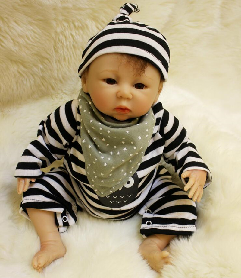 45cm Soft Silicone Reborn Baby Doll Lifelike Reborn Babies Kids Toys Play House Toy Birthday Christmas Gift Juguetes Brinquedos 22 inch reborn baby doll vinyl like silicone girls christmas gift baby toys birthday gifts juguetes lifelike play doll