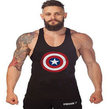 Super HeroA Captain merica brand clothing Singlets Mens Tank Top Muscle Shirt Superman Stringer Bodybuilding Fitness mens Vest
