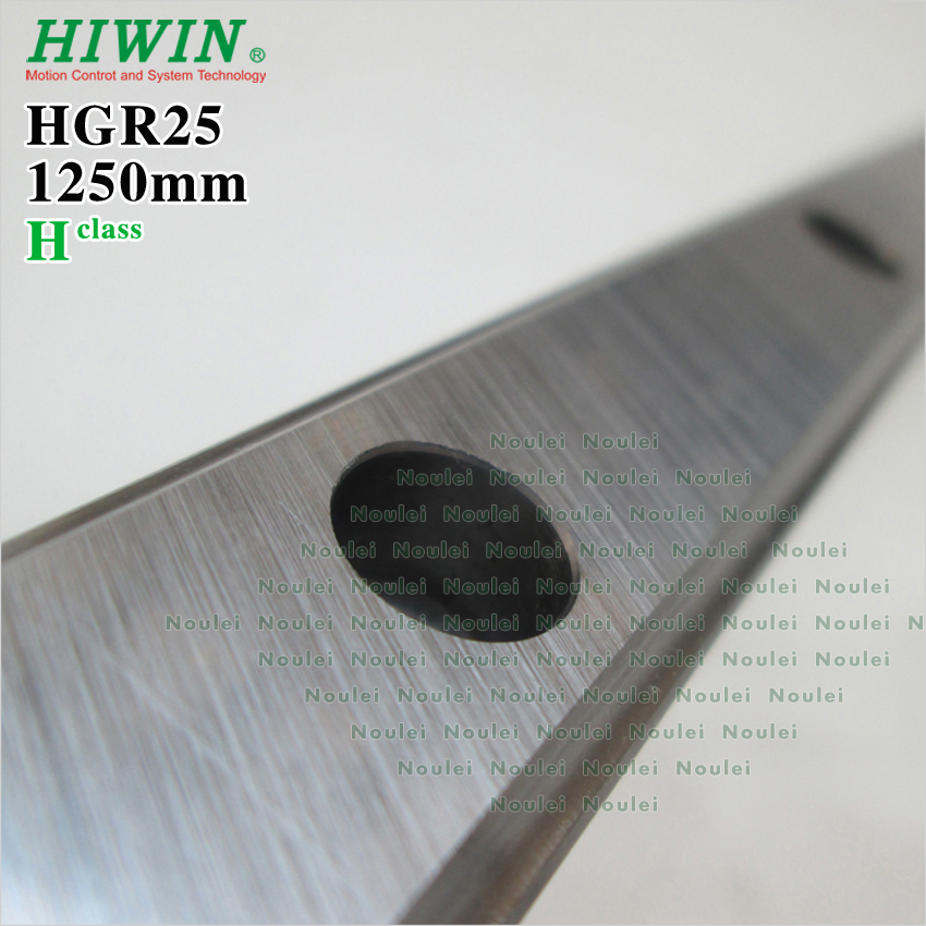 HIWIN HGR25 linear guide rail 1250mm class H CNC kit free shipping to saudi arabia 2 pcs hgr25 3000mm 2pcs hgr25 1700mm and hgw25c 8pcs hiwin from taiwan linear guide rail