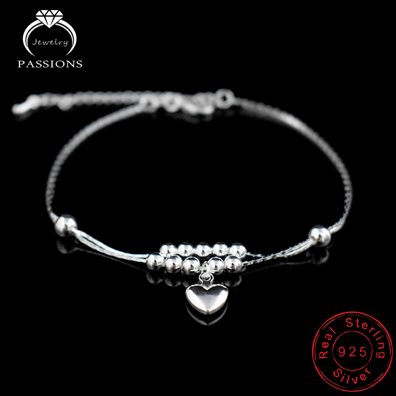 New Fashion Foot Anklet 925 Sterling Ladies Sølv Kugle Armbånd - Mode smykker - Foto 1