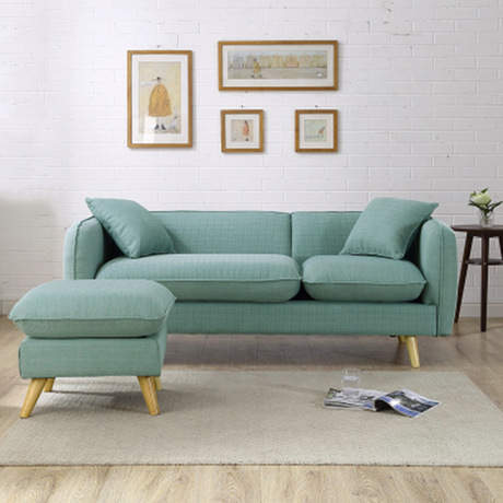 Office Sofas bed Office Furniture solid wood+linen one/two/three ...