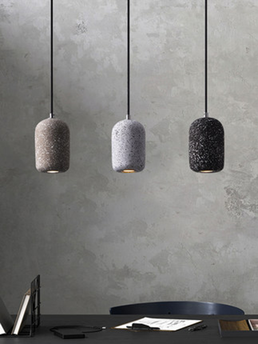 Nordic Loft LED Pendant Lights Modern Industrial Wind Cement Pendant Lamps Restaurant Cafe Bar Home Decor Hanging Lamp Lighting