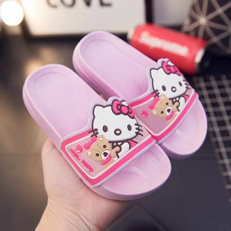 8fb4c3128 Detail Feedback Questions about Children Slippers Hello Kitty Cute ...
