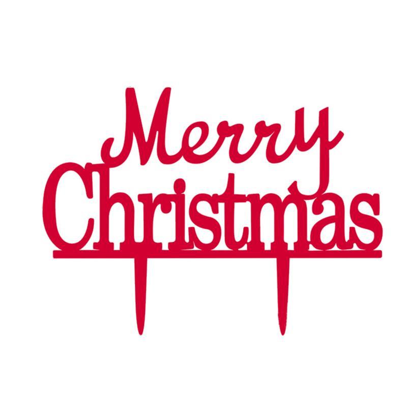 Frohe Weihnachten Kuchen Topper Acryl Silhouette Weihnachten Kuchen ...