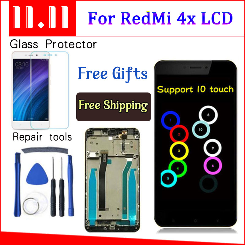 Für Xiaomi Redmi 4X LCD Display Touchscreen Digitizer Montage Ersatz Mit Rahmen Für Xiaomi Redmi 4X Pro Prime 5,0 zoll