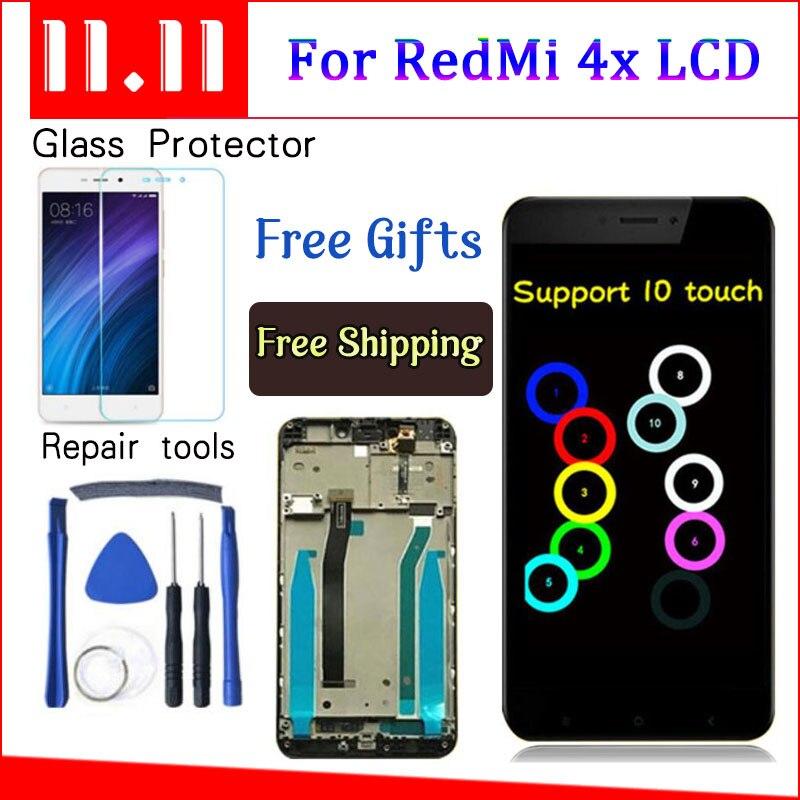Para Xiaomi Redmi 4X Display LCD Touch Screen Substituição Digitador Assembléia Com Moldura Para Xiaomi Redmi 4X Pro Prime 5.0 polegadas