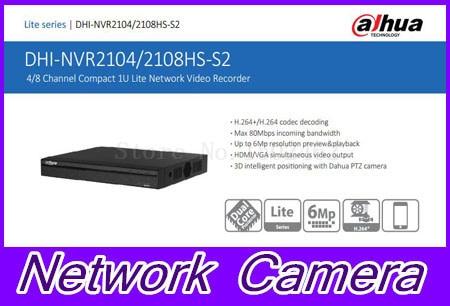 English firmware 4CH 8ch HDMI FULL HD NVR ONVIF NVR2104HS-S2 NVR2108HS-S2 Security IP Network Video Recorder CCTV Dahua Original 2108