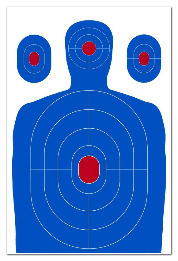 12 X 18 Inch Blue Silhouette Reactive shooting Target shooting stickers for shooter Big Targets for air rifle shooting guns in Party DIY Decorations from Home Garden