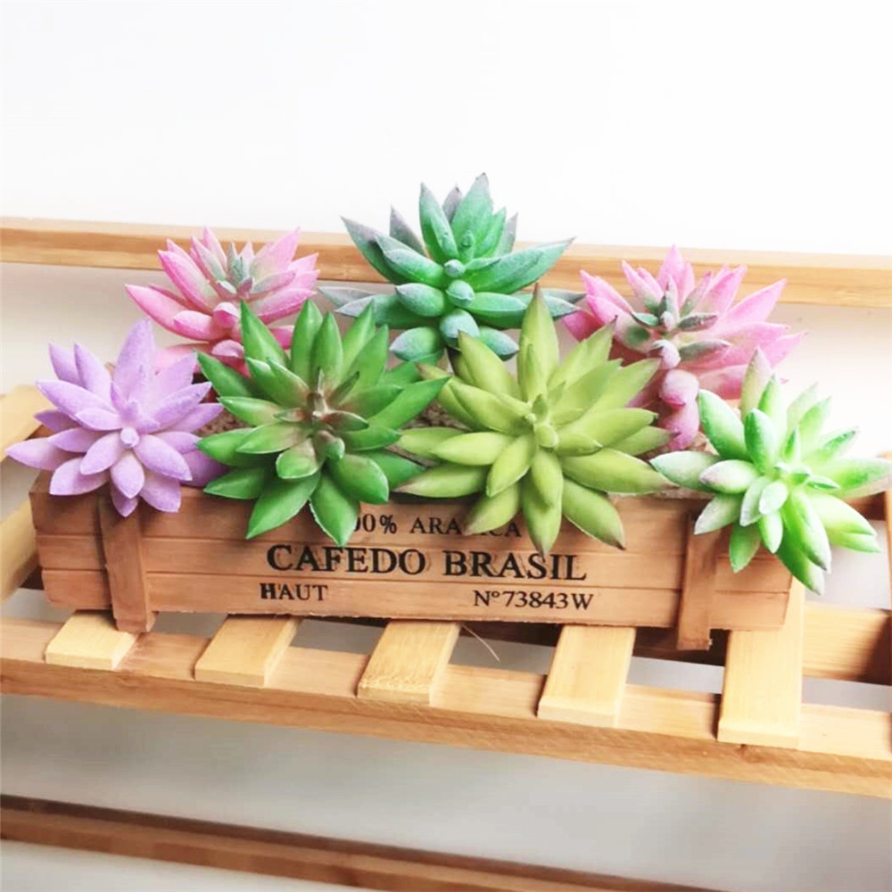 Green Purple Pink Lotus Flower Artificial Succulent Plants Christmas