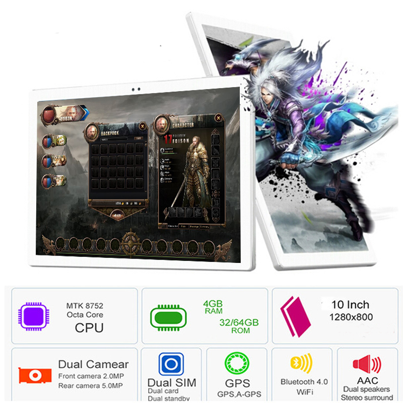2019 NEW 10 inch tablet Octa Core Android 7 0 4GB RAM 64GB ROM 1280 800