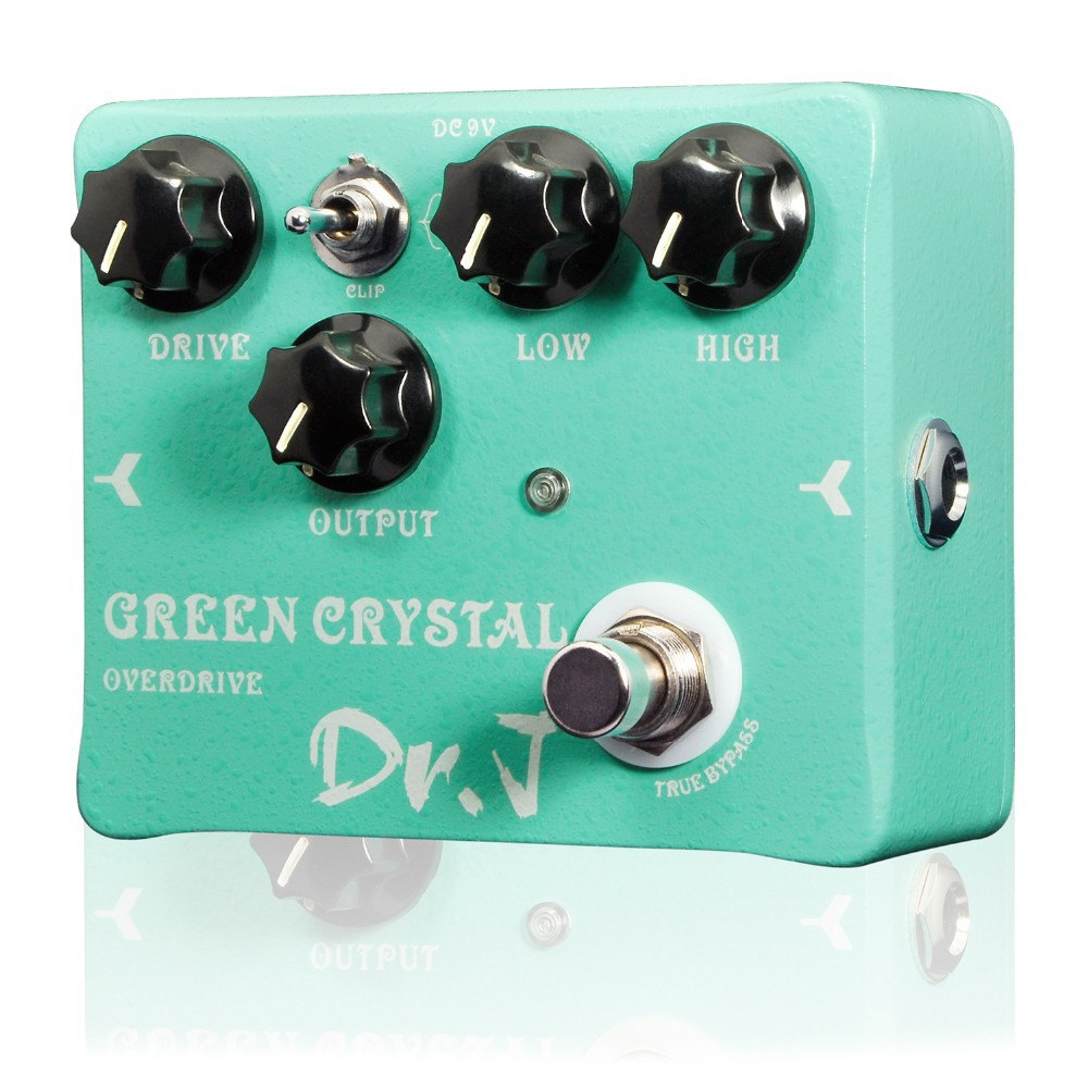 Dr. J D50 Green Crystal Overdrive Electric Guitar Effect Pedal =Guitar Accessories Hand Made Overdrive efeito True Bypass hand made loop electric guitar effect pedal looper true bypass 3 looper switcher guitar pedal hr 1